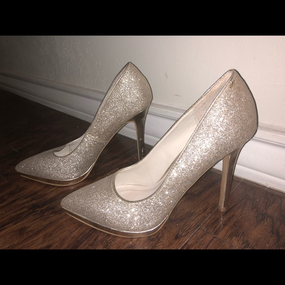 Aldo Shoes | Aldo Gold Glitter Pumps